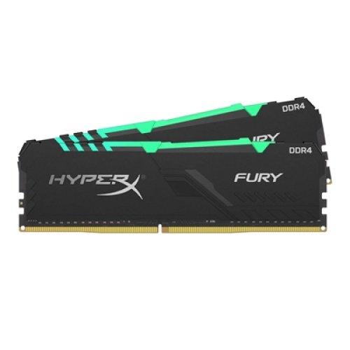 Kingston Hyperx Fury Rgb 16Gb Black Heatsink 2X8gb Ddr4 3200Mhz Dimm System HX432C16FB3AK2/16