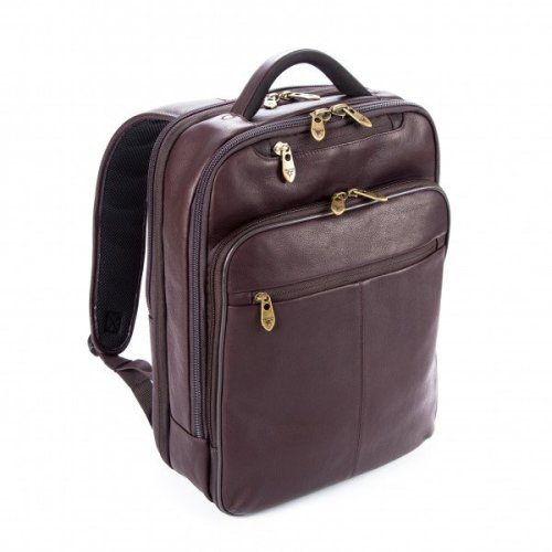 """Falcon Colombian Leather 16"""" Laptop Backpack - FI6706 Brown"""