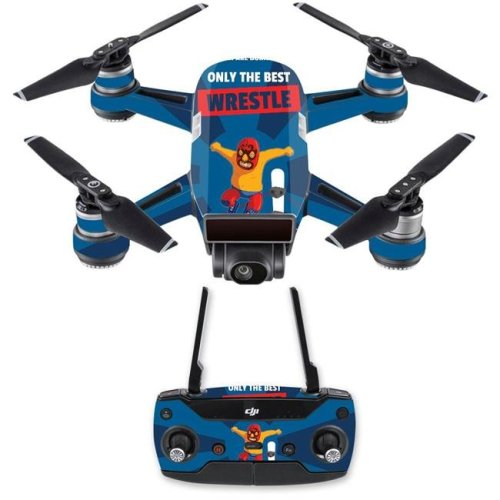 MightySkins DJSPCMB-Best Wrestle Skin Decal for DJI Spark Mini Drone Combo Sticker - Best Wrestle