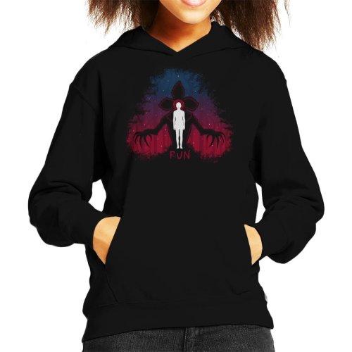Stranger Things Demogorgon Run Kid's Hooded Sweatshirt