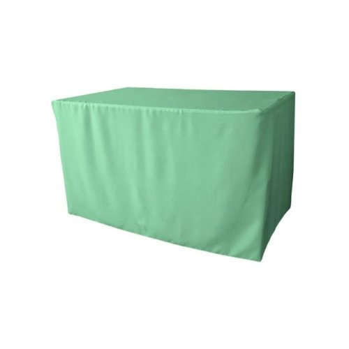 TCpop-fit-48x24x30-MintP44 1.67 lbs Polyester Poplin Fitted Tablecloth, Mint