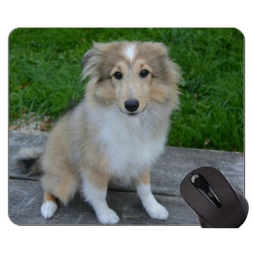 German Shepherd Friend Dog Mouse Pad,Dog Mouse Pad With Stitched Edge
