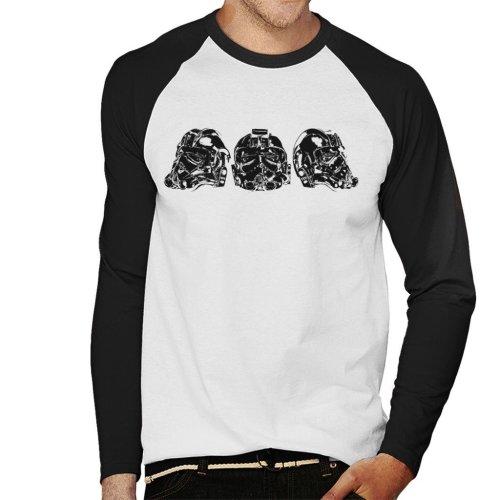 Original Stormtrooper Imperial TIE Pilot Helmet Trio Men's Baseball Long Sleeved T-Shirt