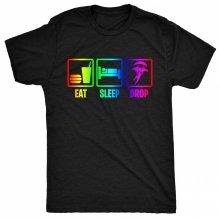 8TN Eat Sleep Drop in Rainbow Mens T Shirt