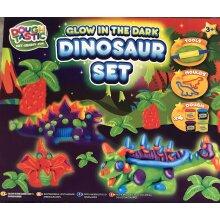 Doughtastic Glow In The Dark Dinosaur Set