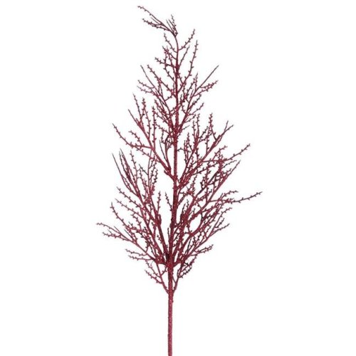Vickerman L162405 Burgundy Wild Huck Glitter Spray - 28 in. - 6 Per Bag