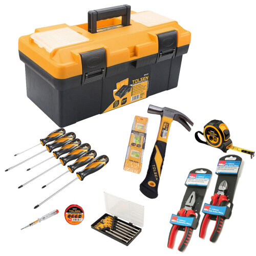 (Tool-Mate 21pc Hand Tool Kit with Toolbox) Tool-Mate 21pc Hand Tool Kit with Toolbox or Bag