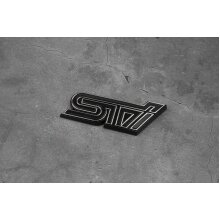 3D Excellent Smooth Glossy STI Logo Emblem Badge Sticker for Subaru