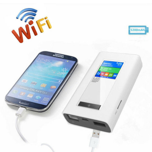 4G PowerBank LTE Wifi Router w/ Duel 2 SIM Card Cards Slot RJ45 LAN