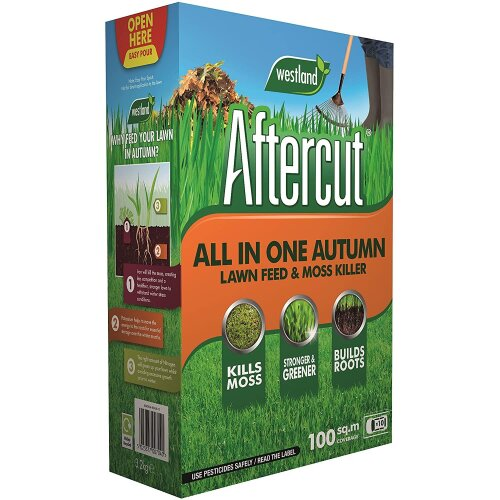 Aftercut All In One Autumn Lawn Care (Lawn Feed and Moss killer), 100 m2, 3.5 Kg
