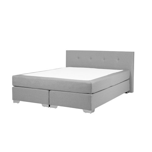 Fabric EU King Size Divan Bed Light Grey CONSUL