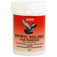 EMTRYL SOLUBLE TREATMENT OF CROP CANKER IN PIGEONS