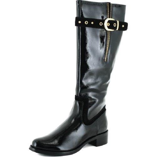 Una vez más Más bien amplificación  Ladies Clarks Zip Fastened Knee High Boots 'Karaoke Tune' Black Patent UK  4.5D, EU 37.5 on OnBuy