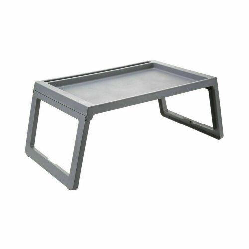 (Grey) Laptop Lap Tray Portable Folding Desk Bed Table