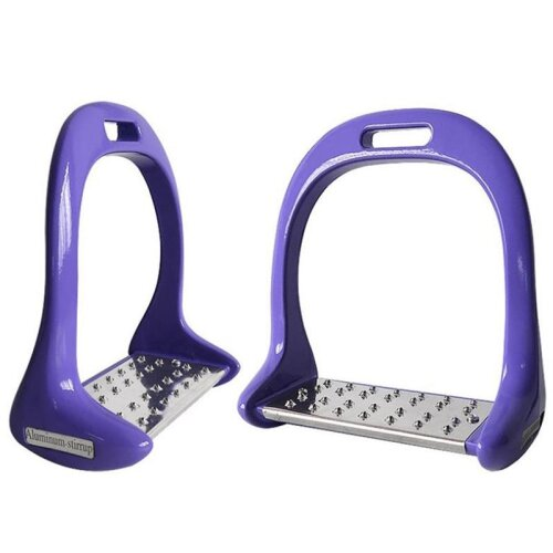 (Purple) Equipment Thickened Anti Slip Treads Pedal Riding Safety Horse Stirrups
