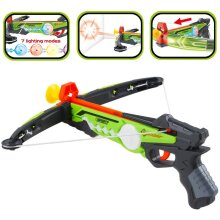 deAO Toy Crossbow Set with Target Suction Cup Arrows and Target Board – Great Indoor and Outdoor Target Games for Kids (Green)