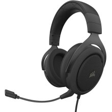 Corsair HS50 Pro - Stereo Gaming Headset - Discord Certified Headphones - Carbon