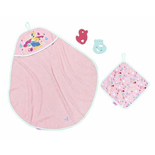 Baby Born 827444 Bath Hooded Towel Set,