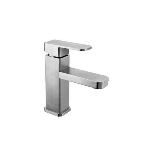 Washbasin mixer, square style, stainless steel
