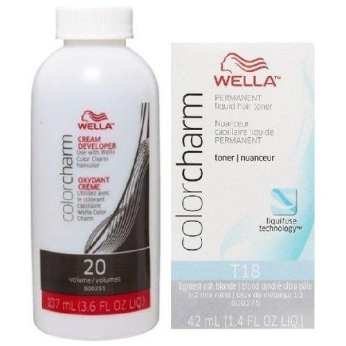 (T18 + Developer (Vol.20)) Wella Colour Charm Liquid Colour Toner 42ml