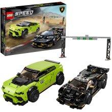 LEGO 76899 Speed Champions Lamborghini Urus ST-X & Lamborghini Huracán Super Trofeo EVO  Race Cars Set