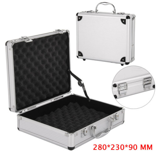 Aluminium Pistol Gun Case Storage Lockable Flight Case Foam Tool Box
