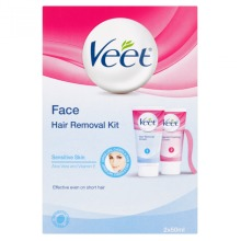 Veet Face Hair Removal Cream and Finishing 2x50ml