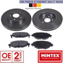 for FORD MONDEO JAGUAR X-TYPE FRONT MINTEX BRAKE DISCS AND BRAKE PADS KIT 300mm