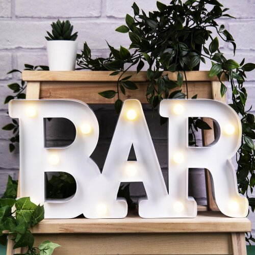 Fizz Creations Metal Marquee Bar Light