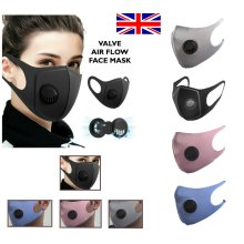 Air Flow Face Mask Surgical Reusable with Filter