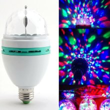 2x E27 Party Disco DJ Bar Ball Stage Lights Led RGB Rotating Lamp Lighting Bulb