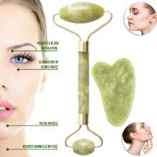 Natural Jade Roller Gua Sha Tool Set for Skin Massage Face Slimming