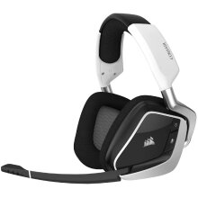 Corsair VOID RGB Elite Wireless Premium Gaming Headset with 7.1 Surround Sound - Discord Certified - Works with PC, PS5 and PS4 - White