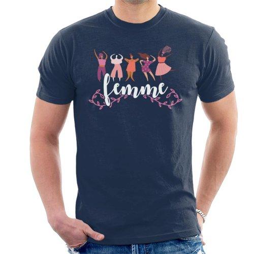 Girl Power Femme Text Men's T-Shirt