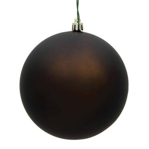 Vickerman N596875M 3 in. Chocolate Matte Christmas Ornament Ball - 32 per Box