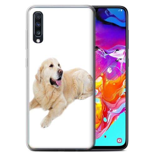 (Labrador) Dog Breeds Samsung Galaxy A70 2019 Phone Case Transparent Clear Ultra Soft Flexi Silicone Gel/TPU Bumper Cover for Samsung Galaxy A70 2019
