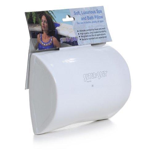 (White) Super Soft Luxurious Bath, Hot Tub and Spa Pillow