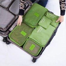 6 Pcs/set Square Travel Luggage Storage Bags Clothes Organizer Pouch Case