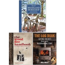 Woodland, The Wood Fire Handbook, Log Book 3 Books Collection Set