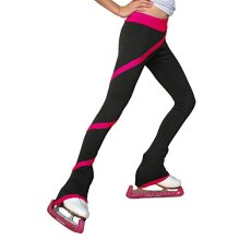 chloeNoel P06 - Spiral Figure Skating Pants Fuchsia child Large