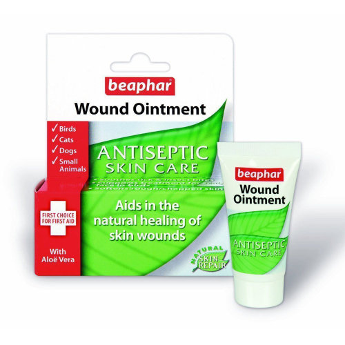 (Pack of 2) Beaphar Wound Ointment Antiseptic Skin Care Cream for Dogs, Cats & Small Animals 30ml