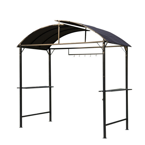 Outsunny Gazebo Marquee Canopy Awning Shelter Garden Patio BBQ Tent Grill Black