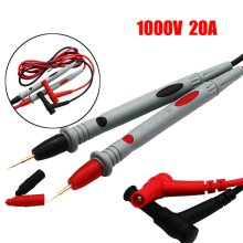 2Pcs Universal Probe Test Leads Pin for Digital Multimeter Needle Tip Meter Multi Meter Tester Lead Probe Wire Pen Cable 1000V 20A