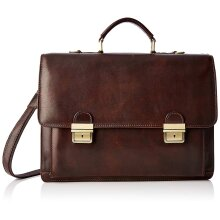 42x30x15 cm Leather Briefcase - Made in Italy