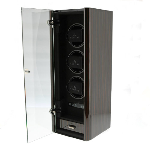 Aevitas Premium 3 Watch Winder Macassar Finish Classic Collection