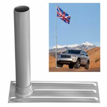 61mm Metal Flag Pole Tire Mount Tailgate Wheel Stand Holder