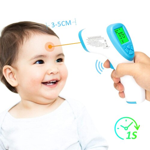 LCD Display, Non-Contact Forehead Temperature Gun for Adults and Baby
