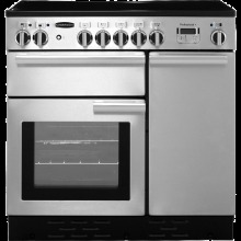 Rangemaster Professional Plus PROP90EISS/C 90cm Electric Range Cooker with Induction Hob - Stainless Steel