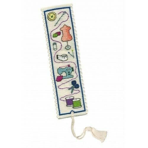 Sewing Themed Bookmark Counted Cross Stitch Kit