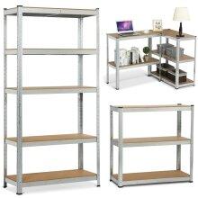 Heavy Duty Metal Galvanised Shelving Rack Unit 5 Tier Garage Storage